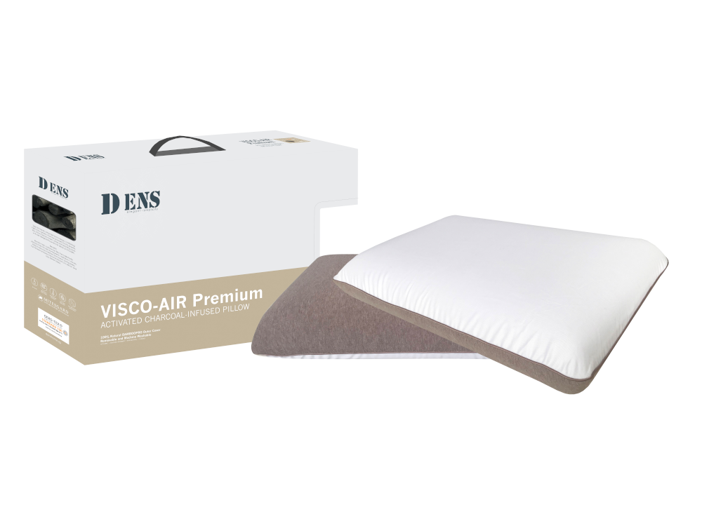 Dens Visco-Air Activated Charcoal Infused Duo sided Memory Foam Pillow