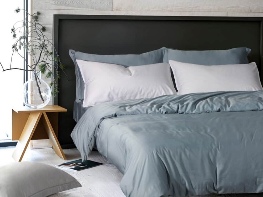 Intero Beyond Aesthetic Bamboopro Solid GRACE Bed Set Blue