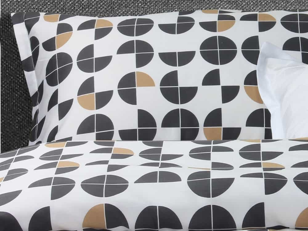 Bellami Monti Papermoon Printed 100% Egyptian Cotton 980 Thread Count Bed Set Colour Charcoal