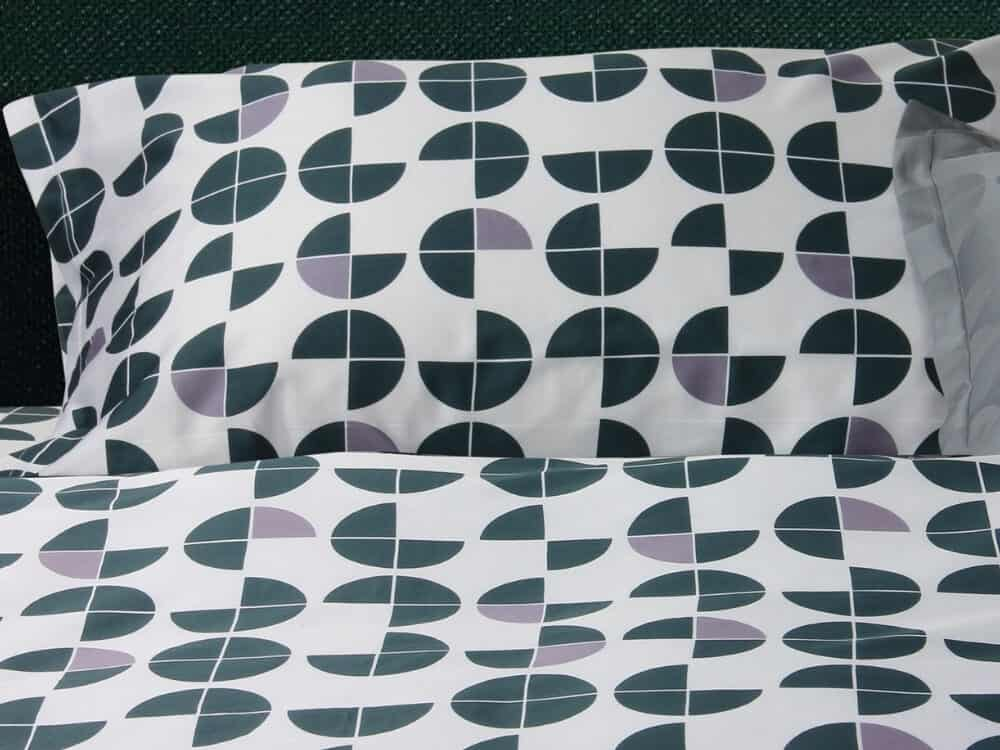 Bellami Monti Papermoon Printed 100% Egyptian Cotton 980 Thread Count Bed Set Colour Green