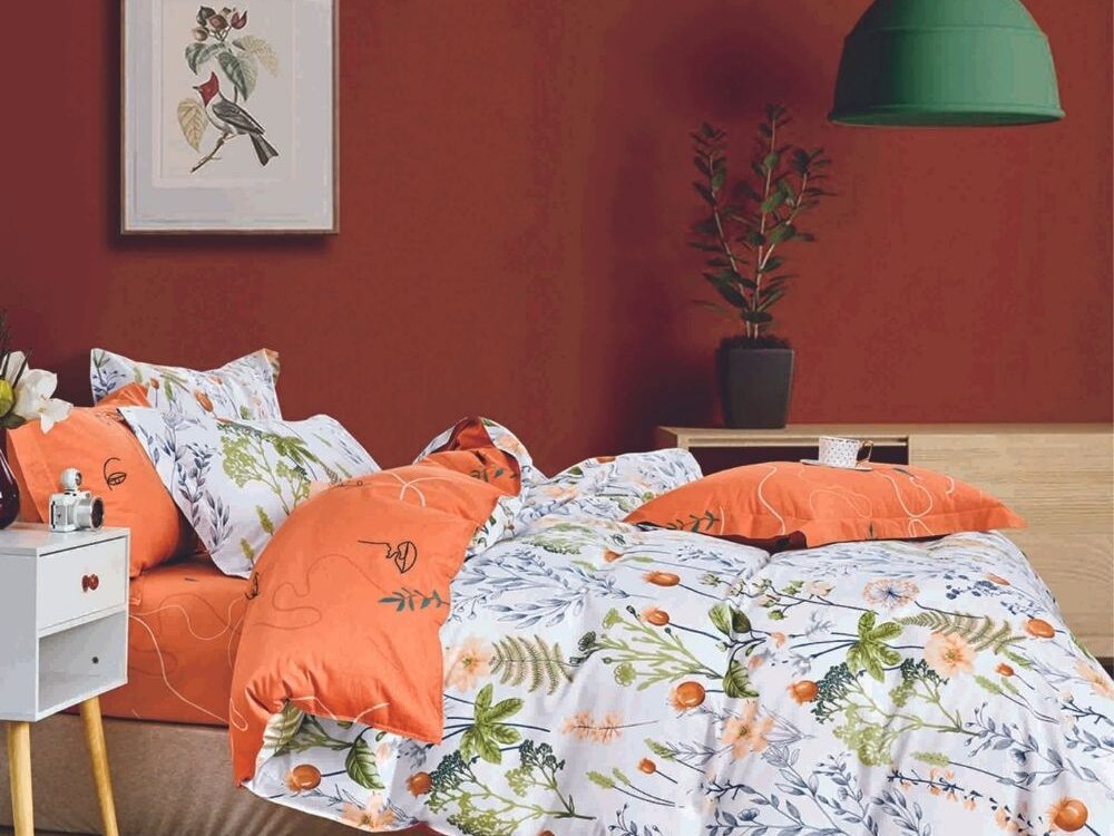 Home 928tc Combed Cotton Printed Bed Set Mana