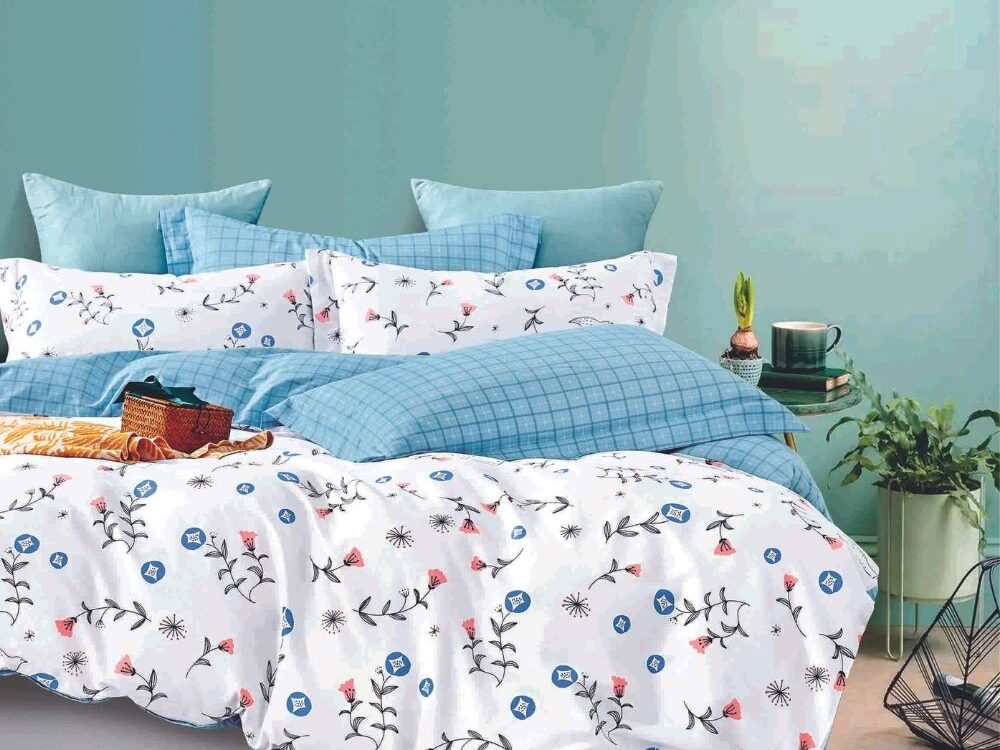 Home 928tc Combed Cotton Printed Bed Set Poppy